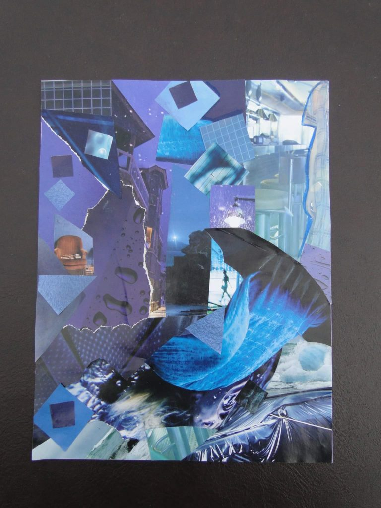 Québec Collage / Projet Bleu / Diane Tremblay Maltais