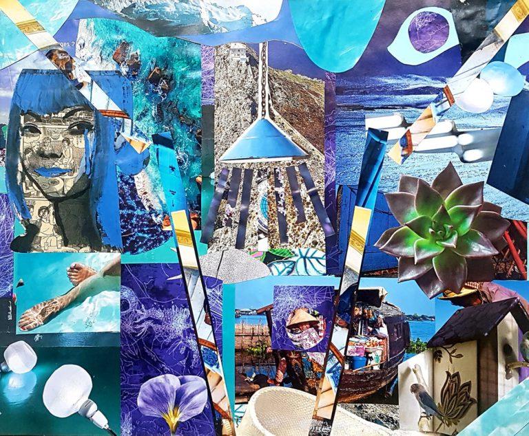 Québec Collage / Projet Bleu / Estelle Vermunt
