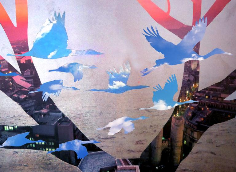 Québec Collage / Projet Bleu / Linda Luttinger