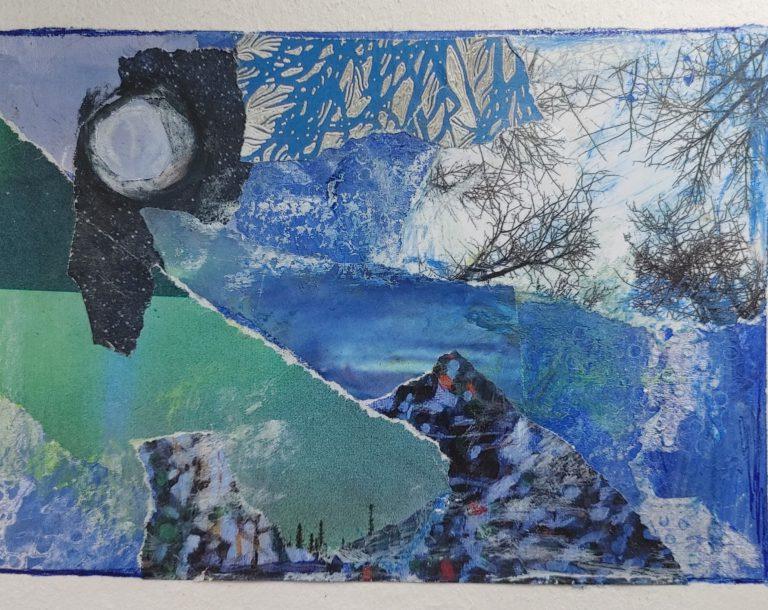 Québec Collage / Projet Bleu / Em Farquhar-Barrie