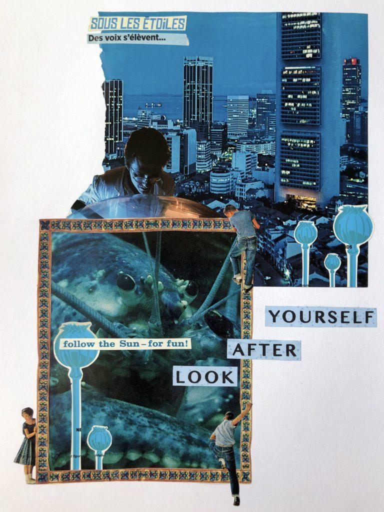 Québec Collage / Projet Bleu / Rosalie Bernard